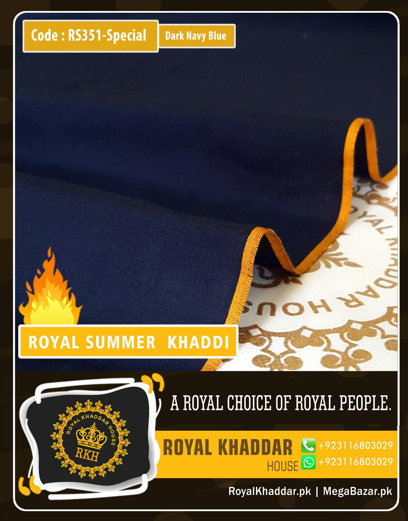 351 Dark Navy Blue Special Royal Summer Khaddar