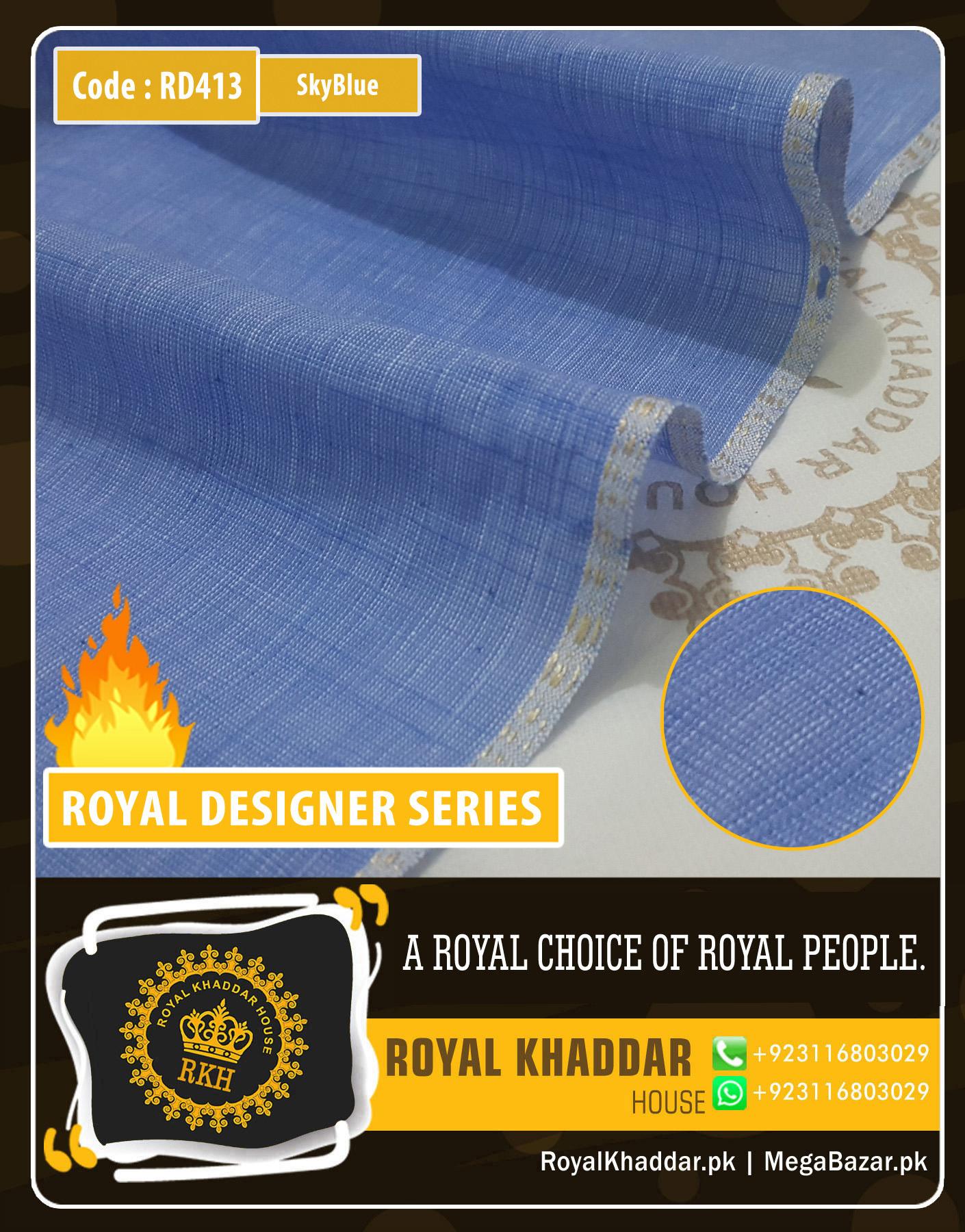 Sky Blue Royal Summer Designer Khaddar RD413