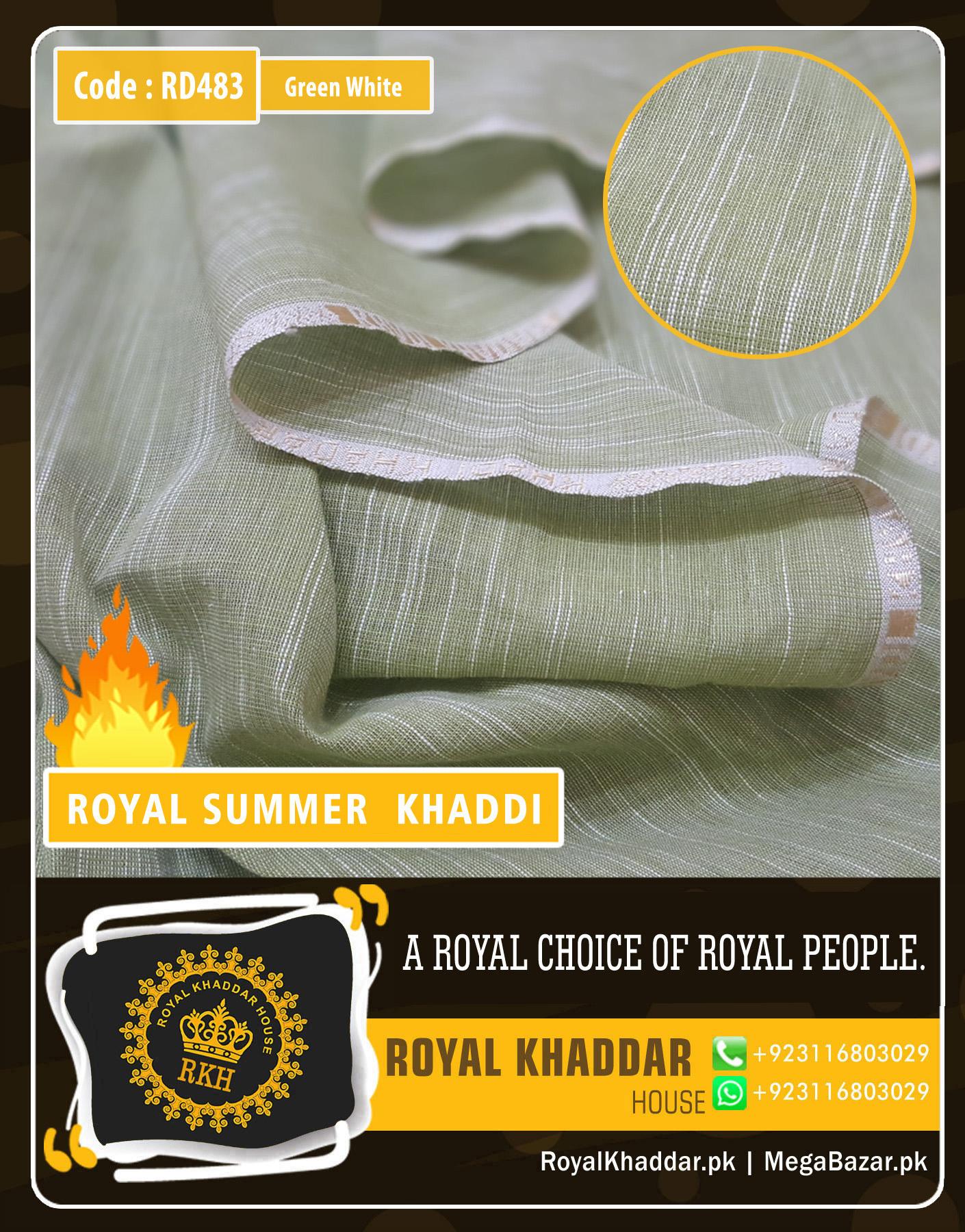 Green White Royal Summer Designer Khaddar