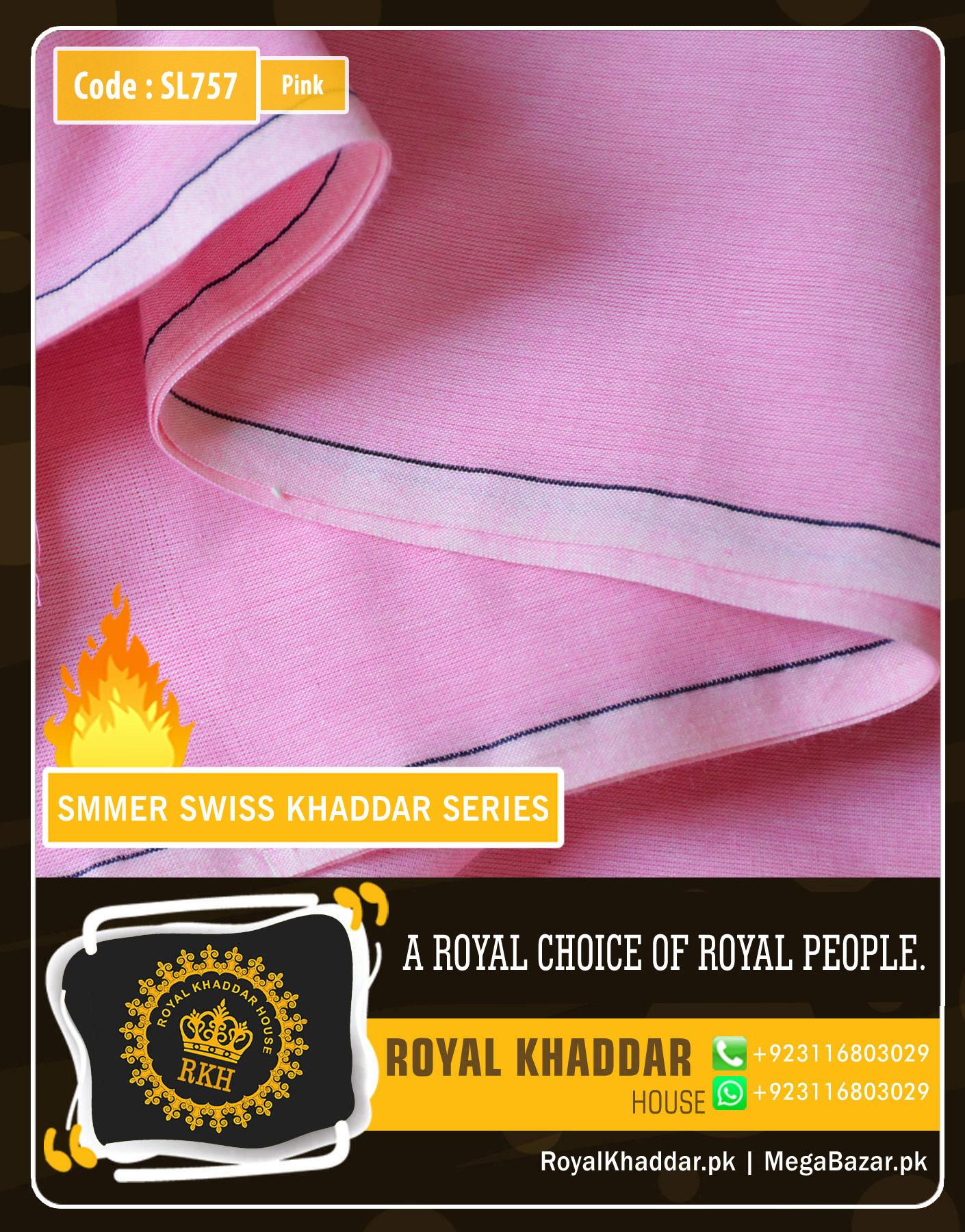 Pink Swiss Khaddar SL757
