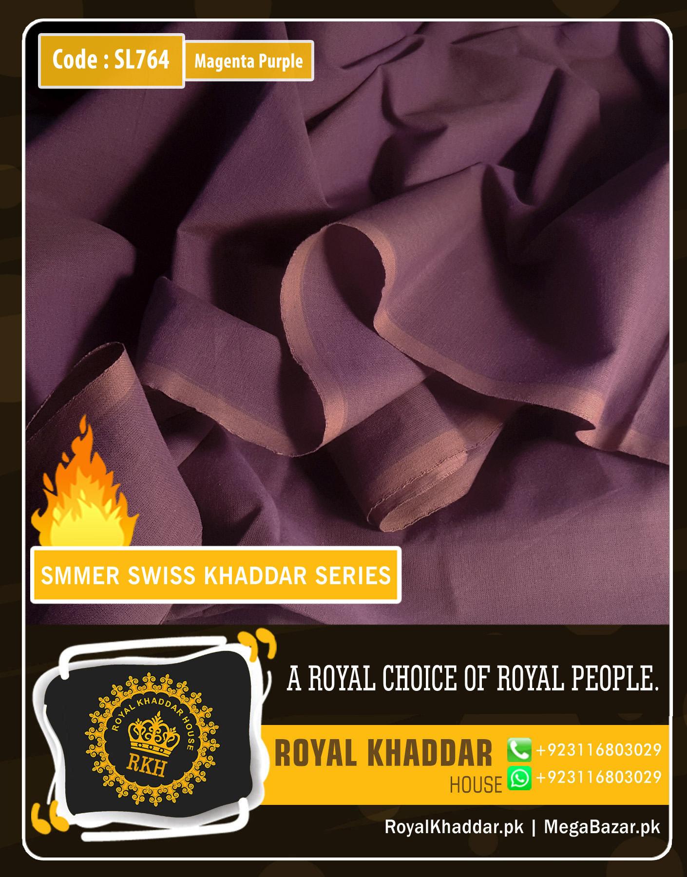 Magenta-Purple Swiss Khaddar SL764