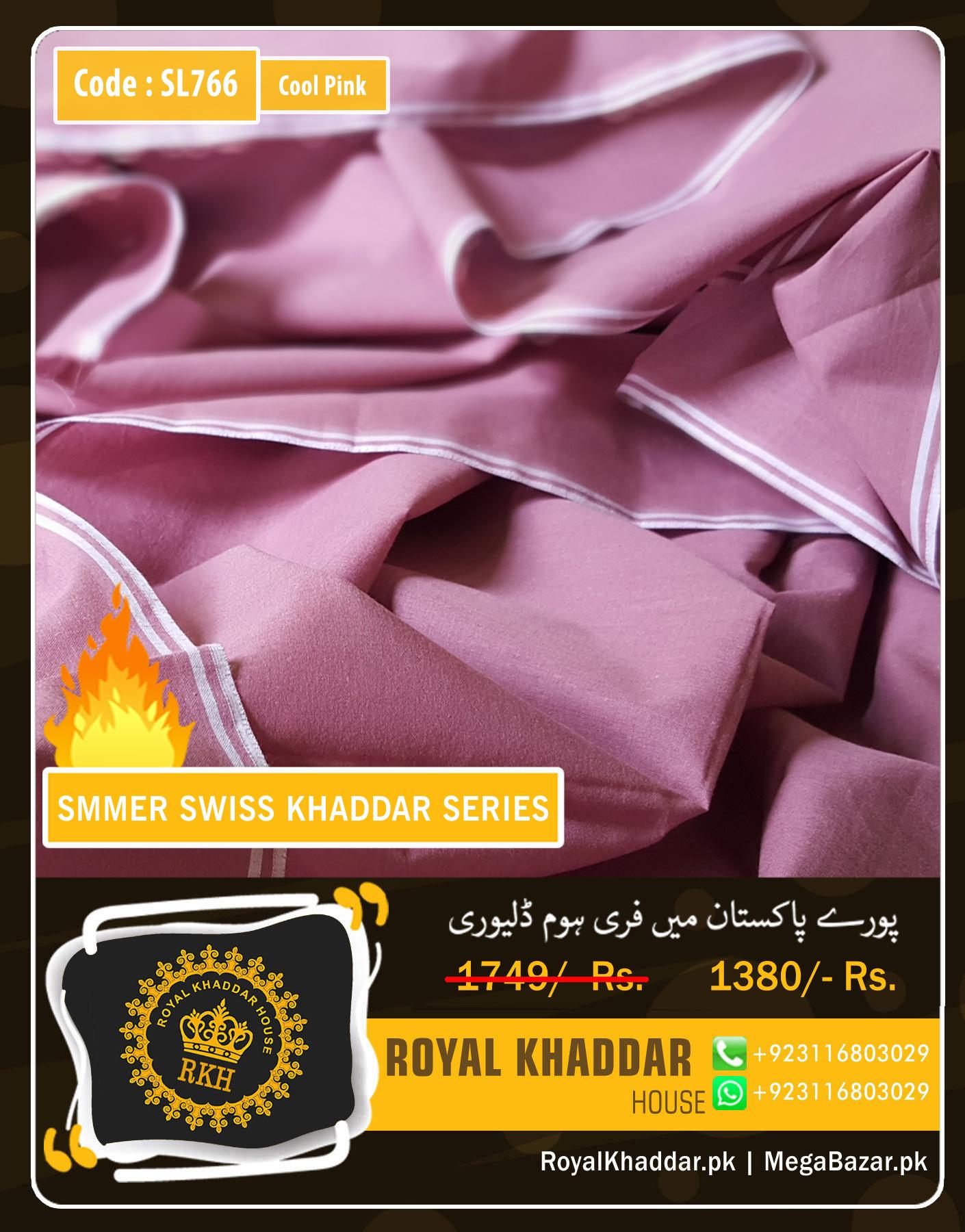 Cool Pink Swiss Khaddar SL766